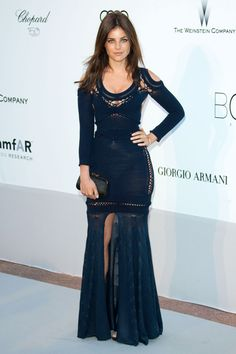 Julia Restoin Roitfeld, editor of French Vogue in Mark Fast dress at the amfAR Cinema Against Aids Gala during the Cannes Film Festival Julia Restoin Roitfeld, Carine Roitfeld, British Fashion Awards, All Black Outfit, Asymmetrical Dress, French Fashion, Fashion Pictures, Dress To Impress, Dresses