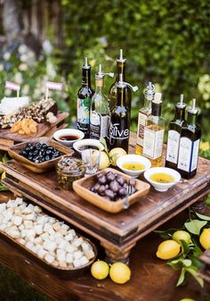 A rustic spread of Italian olives, oil dips, and charcuterie makes the perfect addition to any party table. Here's an another entertaining tip: serve guests a bold Nespresso Grand Cru to cleanse their palates.