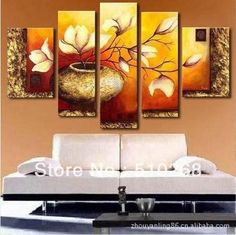 ! Huge Size !! Modern Flower Oil Painting On Canvas, ,Wall Art Ytthh058 From Only_no1, $115.19   Dhgate.Com