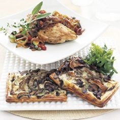 The base of the tart is purchased puff pastry, which makes this dish — served as an appetizer at Lucques — as easy as it is delicious. With the addition of a soup, it could also be a lovely lunch or supper.