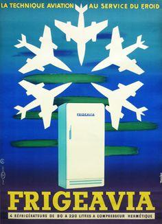 Original Vintage Posters Auriac Frigeavia 1957
