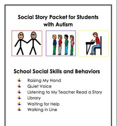 SOCIAL STORIES FOR STUDENTS WITH AUTISM: SOCIAL SKILLS AND BEHAVIORS AT SCHOOL - TeachersPayTeachers.com