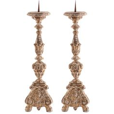 Aidan Gray Decor Grayson Gilded Candlestick Set of 2 ($645) ❤ liked on Polyvore featuring home, home decor, candles & candleholders, gilt candles and aidan gray