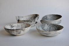 unglazed, wabi sabi landmark bowls