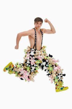 Overalls..... Overalls........... #TextileWaste #Upcycle #Recycle #DIY #NoFastFashion #EcoFashion #UPcycledfashion #Overalls Fashion Fail, Weird Fashion, High Fashion, Fashion Weeks, Daily Fashion, Men's Fashion, Teddy Bear Pants, Teddy Bears, Clothing Fails