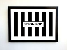 "LIMITED EDITION Notts County A3 Football Stadium Design Art Print - Meadow Lane ""Spion Kop"" #ncfc #notts #magpies #youpies"