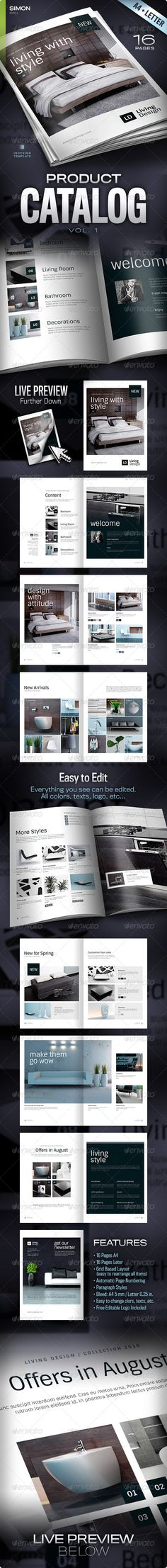 Product Catalog Vol. 1 It looks pretty generic, still I wanted to pin it because of it's simple layout!