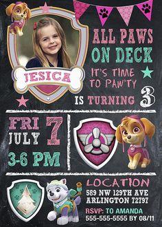 Paw Patrol Invitation Girl Paw Patrol Invitation Paw