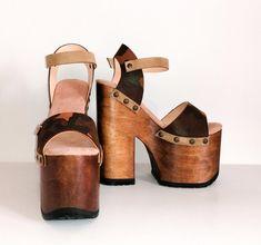 Platform High Heels, Sexy High Heels, Sandals Platform, Boho, Pink Leather, Leather Sandals, Wedge Shoes, Etsy, Take That