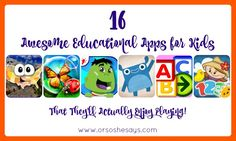 Mariah has rounded up 16 educational apps that your kids will enjoy! This is nice to have as school comes to a close so you can keep learning all summer.