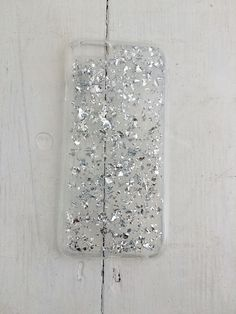 Silver leaf clear phone case - Iphone 5 / 5s