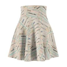 Austen Books on Library Card - Women's Skater Skirt