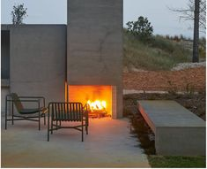 The Fire Dept - WD1 with custom wood grate for Fearon Hay Architects