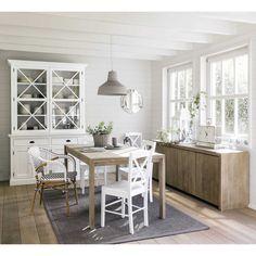 Mesa de comedor extensible de 6 a 8 personas de roble blanco An. 160/210 cm | Maisons du Monde