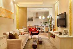Decor Salteado - Blog de Decoração | Arquitetura | Construção | Paisagismo: 20 Cozinhas e salas integradas e pequenas – veja ótimas ideias para apartamentos!