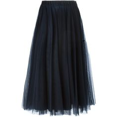 P.A.R.O.S.H. Nyllex Skirt ($267) ❤ liked on Polyvore featuring skirts, blue, blue skirt and p.a.r.o.s.h.