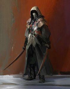 Assassins and Warrior Concept Art by John J. Park