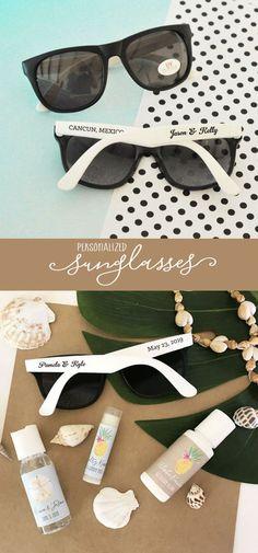 2e8b5c8eca624 Beach Theme Wedding Favors Beach Theme Bridal Shower Favors Personalized Sunglasses  Sunglass Favors (EB3107) - SET of 24