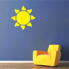 Sun Vinyl Wall Decal Sticker | Kids Bedroom Wall Mural Self Adhesive Sun | Wall Decals | Trendy Wall Designs