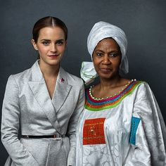 Executive Director of UN Women Phumzile Mlambo-Ngcuka and I! Stand up for gender equality at www.heforshe.org