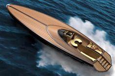 Nice wood boat.