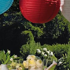 20 Inch Round Paper Lantern decorative paper lantern adds new dimension to parties and inside and outside wedding venues. Indoor Outdoor Lighting ideas..events.