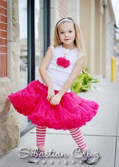 Solid Raspberry Pettiskirt