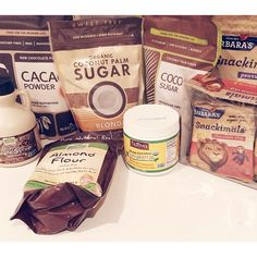 An early birthday present from my lil sis #iherb #organic #groceries #coconutsugar #coconutoil #almondflour #snackimals #maplesyrup #rawcacaopowder #birthday #present #sisterlylove #instafood #ingredientsforbaking #Padgram
