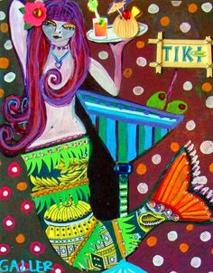 Google Image Result for http://i.ebayimg.com/t/Mermaid-Art-Poster-Print-Painting-Martini-Cocktail-