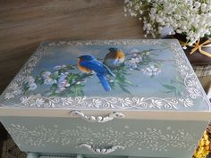 32 Beautiful Wooden Home Accessories Decoration - Room Dekor 2020 Decoupage Box, Decoupage Vintage, Decorative Accessories, Decorative Boxes, Wooden Kitchen Signs, Jewellery Boxes, Craft Box, Wooden Wall Art, Keepsake Boxes