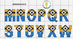 MINIONS alphabet x-stitch