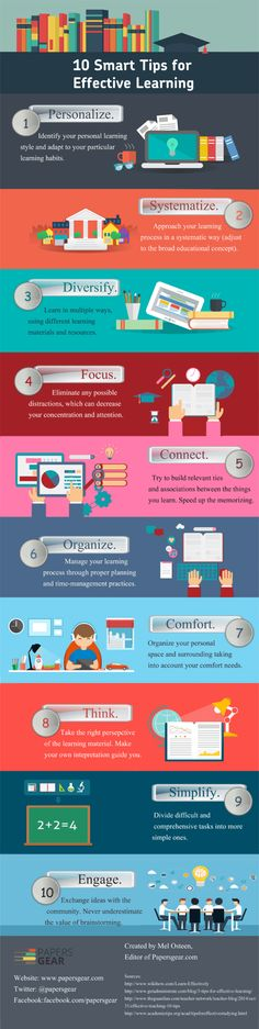 10 Smart Tips for Effective Learning  #infographic #infografía