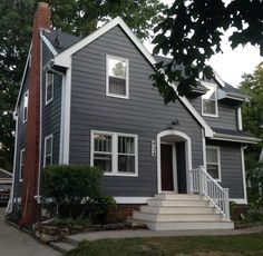 Sherwin Williams Peppercorn (gray) (sweet House Exterior). Exterior Paint  ColorsExterior ...