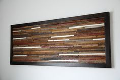 Reclaimed wood wall art 37x131/4x1 by CarpenterCraig on Etsy, $220.00