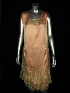 1920's Lace Flapper Dress Gatsby Wedding Silk by Bellasoiree