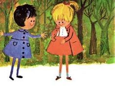 """Love these illustrations from my favorite childhood book """"Katy's First Day"""""""
