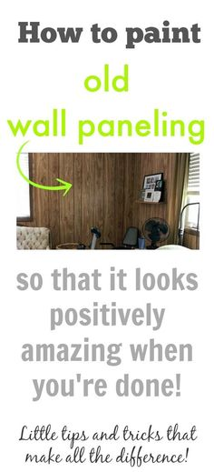 How to paint your old wall paneling, most defiantly need this for our house. ** just in case bc old houses in Tennessee have lots of yucky paneling. Painted Paneling Walls, Painting Wood Paneling, Wood Panel Walls, Paneled Walls, Painting Walls, Faux Walls, Wall Wood, House Painting, Do It Yourself Furniture