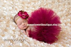 Sweet Cranberry Tutu Newborn Tutu Custom by ASweetSweetBoutique, $45.00