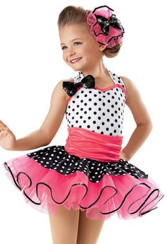 Halter Polka Dot Recital Dress -Weissman Costumes(Rock around the clock)