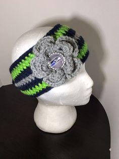 Seattle Seahawks  Crochet Headband  by PollysBaubles on Etsy, $18.00