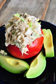 Crab Salad Recipe..I'd probably do this as a chicken salad instead