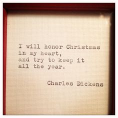 Charles Dickens Framed Christmas Quote