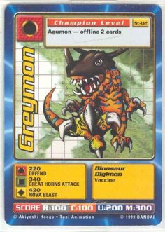Collectible Trading Card Counters - Digimon  Greymon  St02 -- Check out the image by visiting the link.