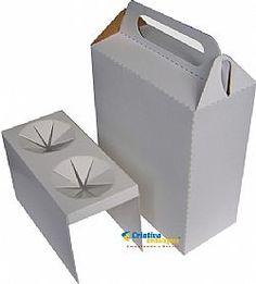 Caixa para pizza 2 cones - Cód 64 - Criativa Embalagens