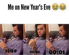 How do you plan on ringing in the New Year? Why not start 2019 with a few laughs from these hilarious New Year memes? Funny holiday pictures Holiday humor Funny New Year cards Christmas jokes New Year Jokes, Quotes About New Year, Happy New Year Meme, Funny New Years Memes, New Year Quotes Funny Hilarious, One Direction Jokes, I Love One Direction, Direction Quotes, Funny Images