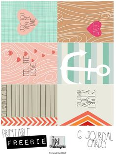 Free cards for Project Life from JM Designs