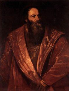 Ritratto di Pietro Aretino, Tiziano Vecellio, 1545 (olio su tela). L'opera è oggi conservata nella Galleria Palatina di Firenze.