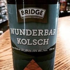 Bridge Brewing Company • Wunderbar Kolsch • A flavourful take on a German Kolsch • Lager malt profile fermented with an ale yeast • Made with German noble hops. ABV 5% IBU 27#craftbeer #kolsch#bccraftbeer #kolsch #kolschbeer #beer