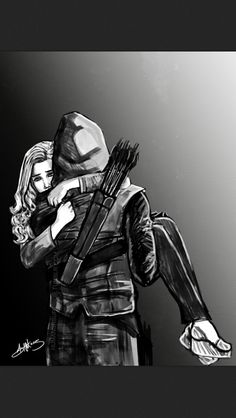 Olicity art!! Not mine but it is amazing! Oliver and Felicity - Arrow