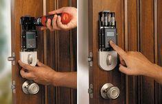 SmartScan Biometric Deadbolt Helps You Unlock Your Door With Your Fingerprint Digital Lock, Locksmith Services, Home Board, Take My Money, Room Doors, Easy Gifts, Cool Gadgets, Kitchen Gadgets, Door Handles